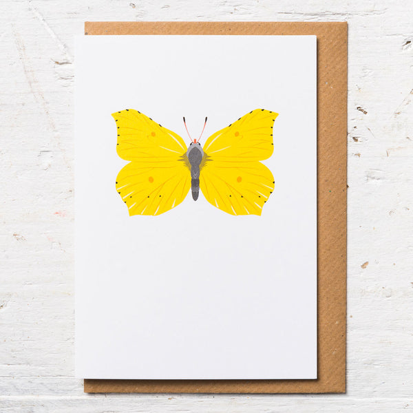 Brimstone Butterfly Greeting Card