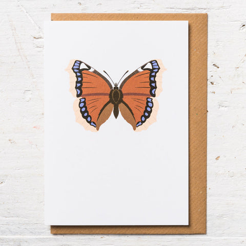 Camberwell Beauty Butterfly Greeting Card