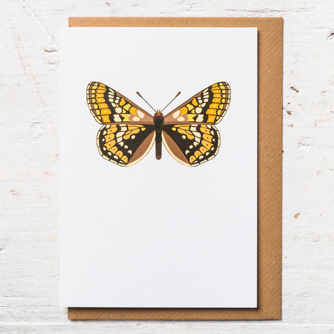 Marsh Fritillary Butterfly Greeting Card
