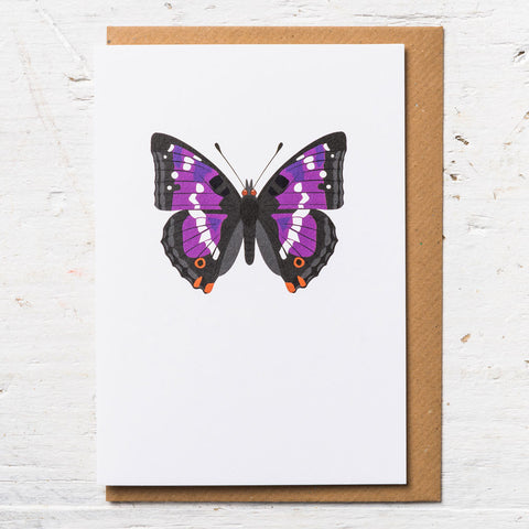 Purple Emperor Butterfly Greeting Card