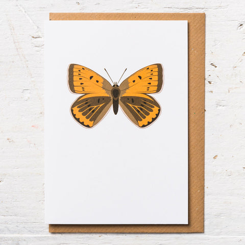 Large Copper Butterfly Greeting Card