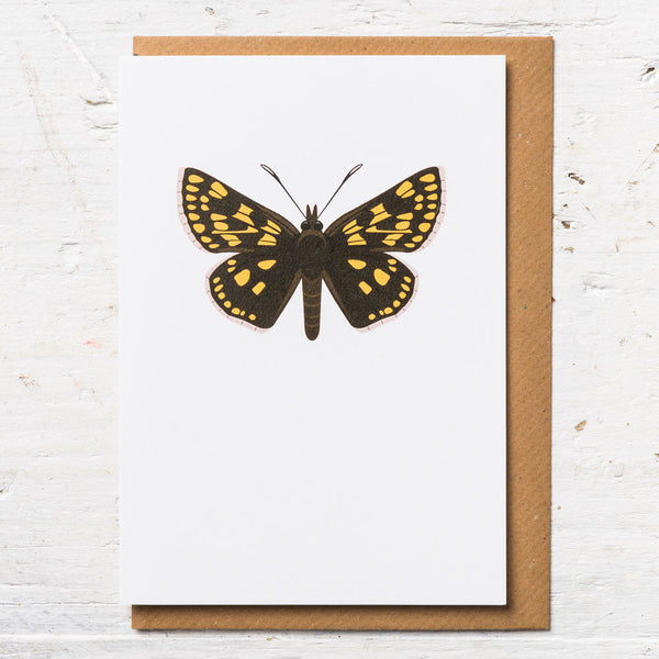 Chequered Skipper Butterfly Greeting Card