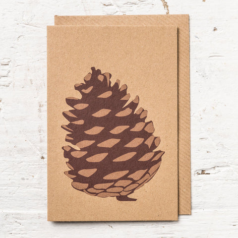Fir Cone Greeting Card