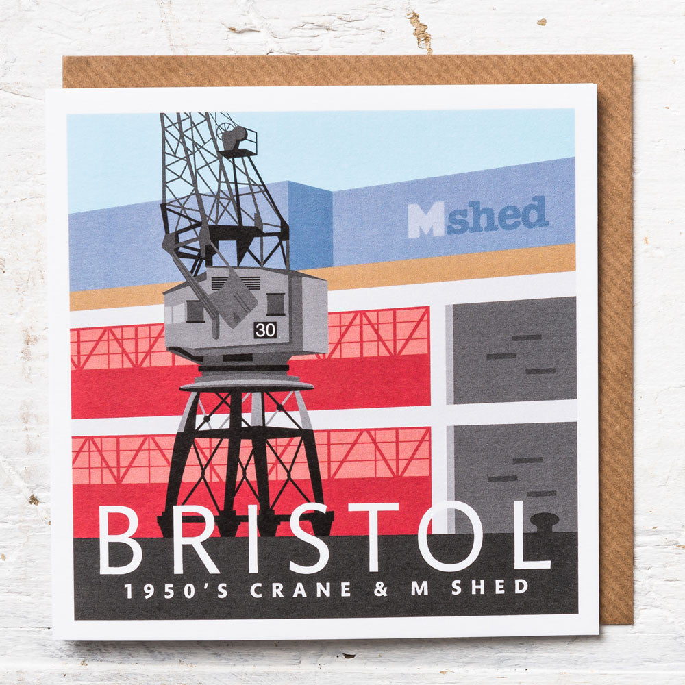 1950's Electric Crane and the MShed Greeting Card
