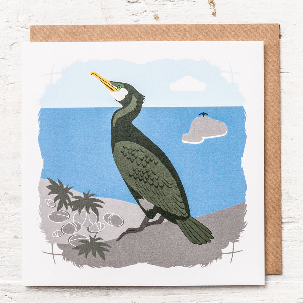 Cormorant Greeting Card