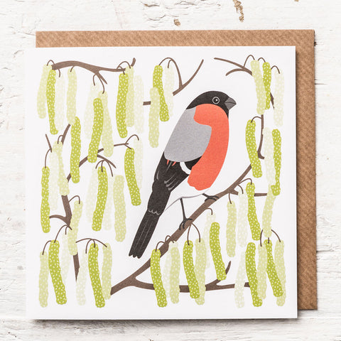 Bullfinch Greeting Card