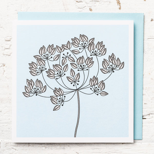 Rough Chervil Greeting Card
