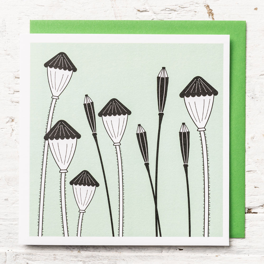 Poppy Seed Head Greeting Card