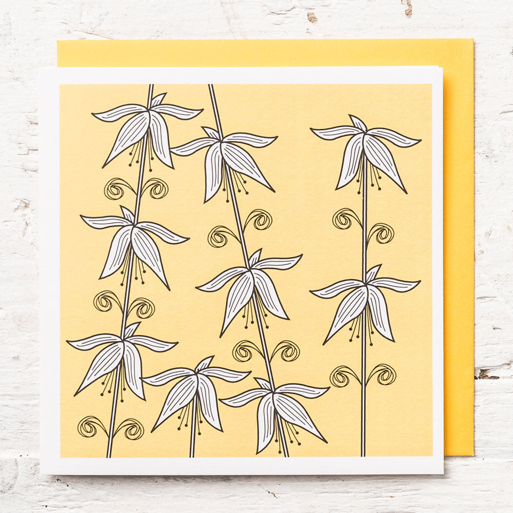 Flower Stalks Greeting Card