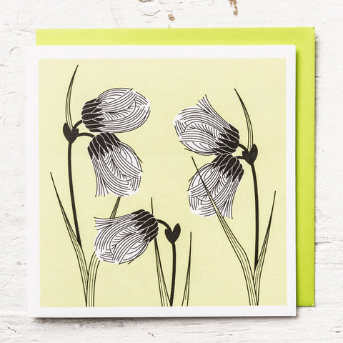 Cotton Grass Greeting Card