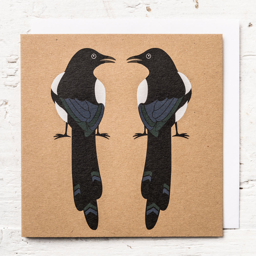 Mr & Mrs Magpie Greeting Card