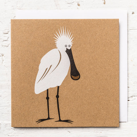 Mr Spoonbill Greeting Card