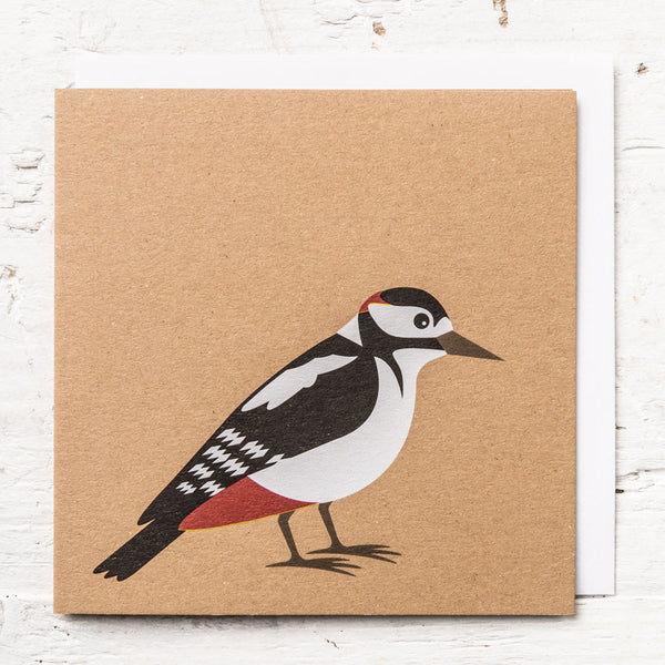 Mr Woodpecker Greeting Card