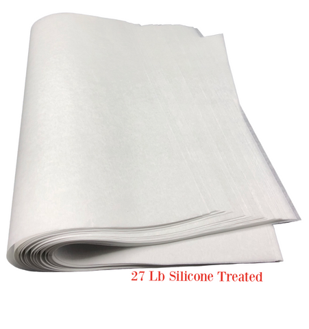 Silicone Coated #27 Baking Parchment Paper Sheets (Various Sizes)
