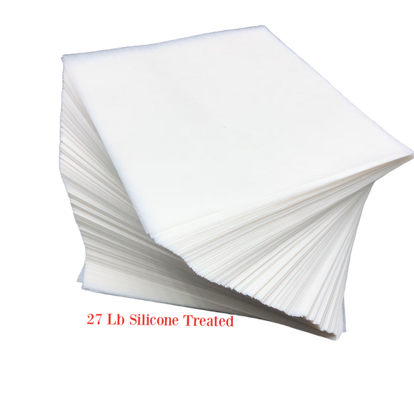 Silicone Coated #27 LB Parchment Paper Squares Sheets