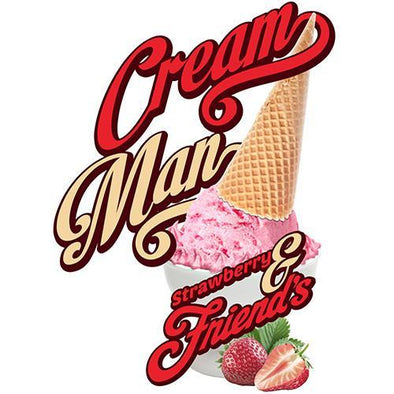 Cream Man E-Juice - Strawberry and Friends - 60ml