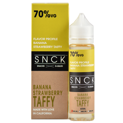 SNCK Snacks E-Liquid - Strawberry Banana Taffy - 60ml