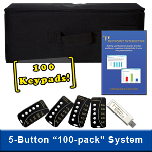 100-Keypad System Featuring 5-Button Keypads