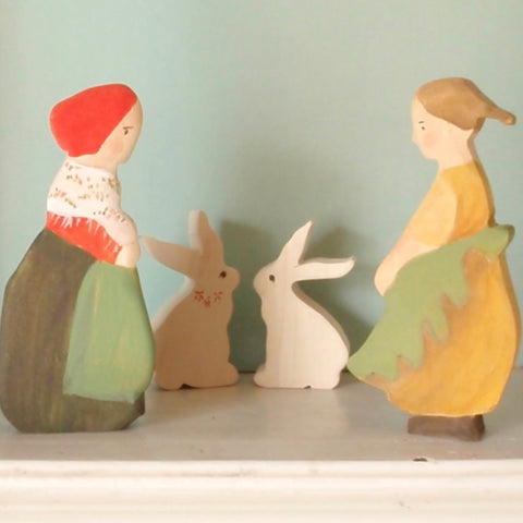 forest mama and mrs acorn figure set-waldorf elsa beskow dolls