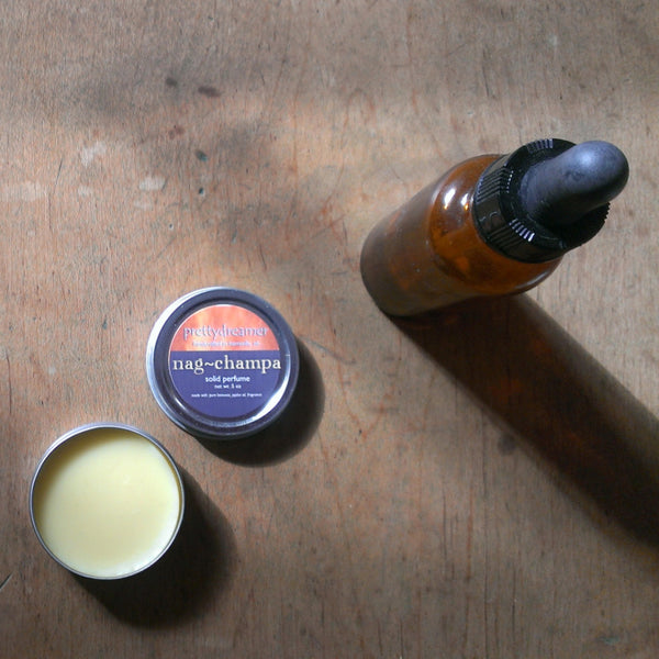 nag champa:  solid perfume / fragrance -body- prettydreamer - 1