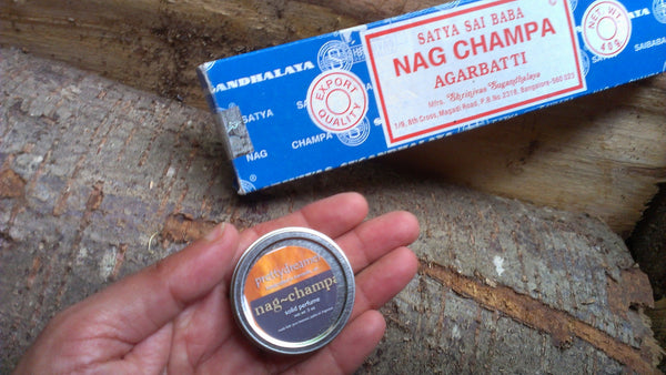 nag champa:  solid perfume / fragrance -body- prettydreamer - 2