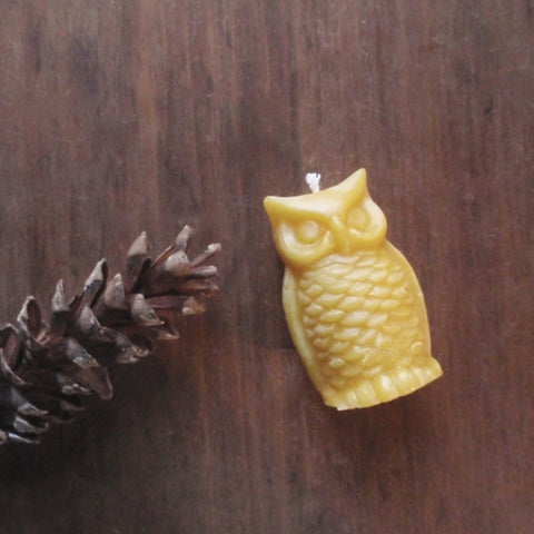 woodland owl beeswax candles -candles- prettydreamer - 1
