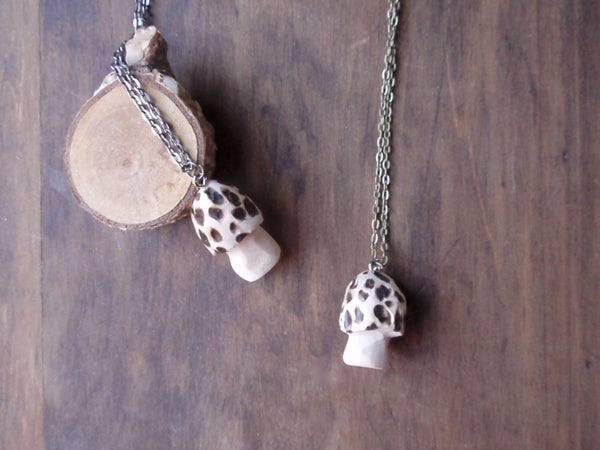 morel toadstool pendant necklace -accessory- prettydreamer - 5