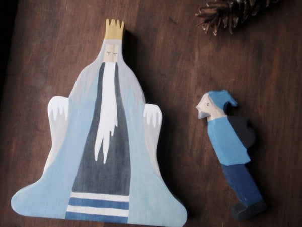 king winter/ waldorf wooden figure -waldorf- prettydreamer - 4
