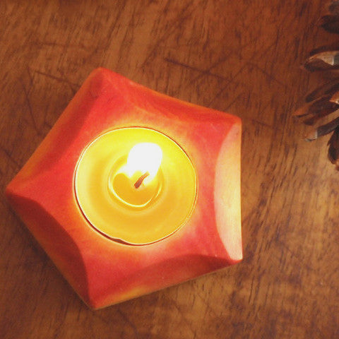 autumn glowing / candle holder -waldorf- prettydreamer - 1