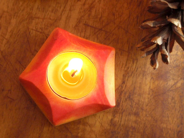 autumn glowing / candle holder -waldorf- prettydreamer - 2