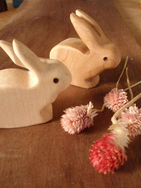 mr. long ears wooden rabbit -waldorf- prettydreamer - 2