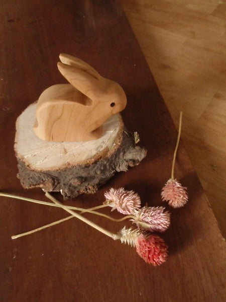 mr. long ears wooden rabbit -waldorf- prettydreamer - 4