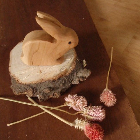 mr. long ears wooden rabbit -waldorf- prettydreamer - 1