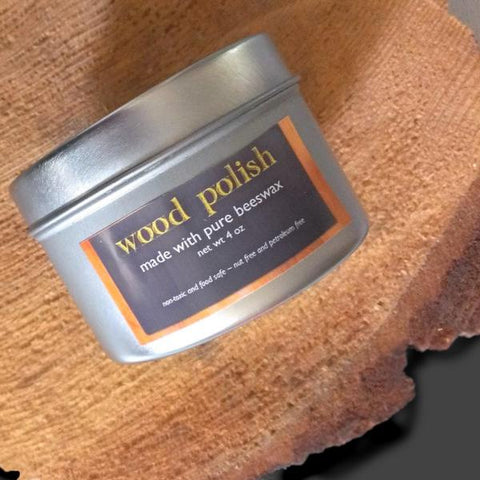 beeswax wood polish - 4 oz.