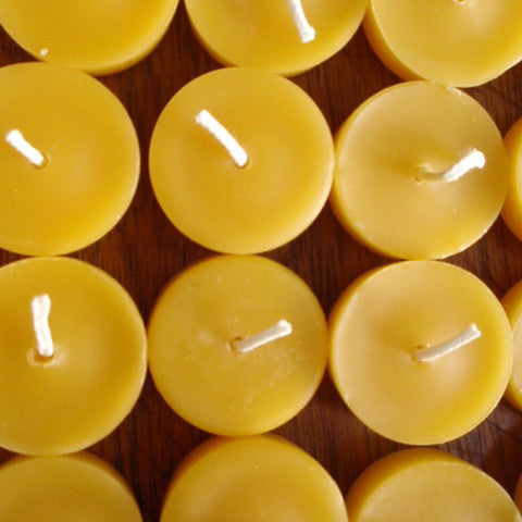 pure beeswax tea light candles- set of 12 -candles- prettydreamer - 1