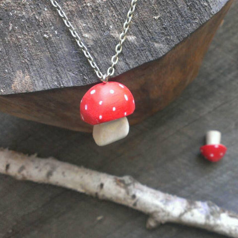 red-cap toadstool pendant -accessory- prettydreamer - 1