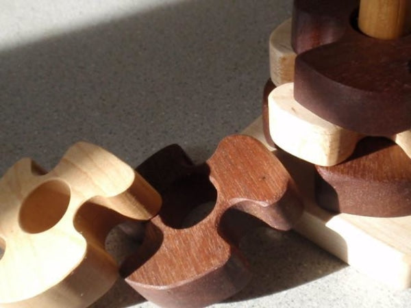 wooden pinwheel stacking toy -toys- prettydreamer - 7