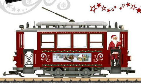 streetcar in a Christmas design