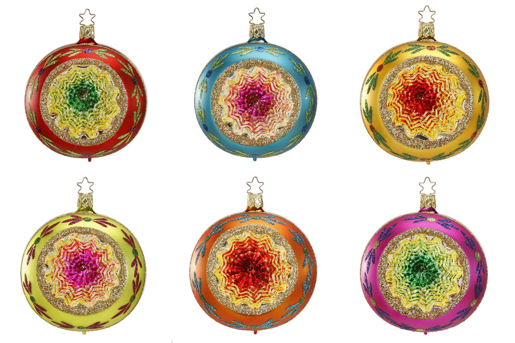 Christmas Ornament Reflector 10cm, 6  assorted