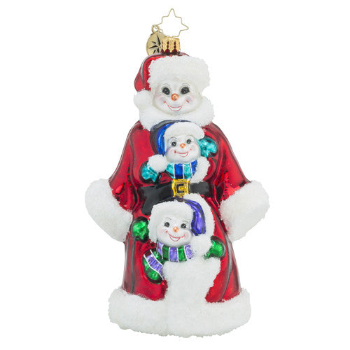 Radko, Triple Delight, Snowman Stack, 1018514