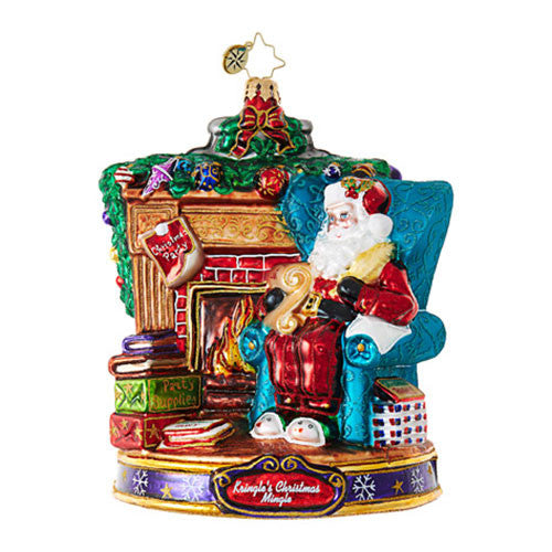 Radko, Ornament of the Month - Fireside Party Planning, 1019076