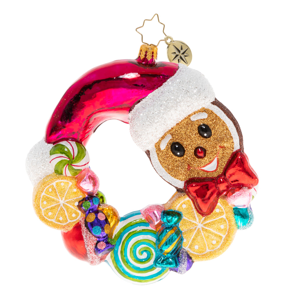 CR, Swirling With Sweets Wreath, 1020441, Christopher Radko