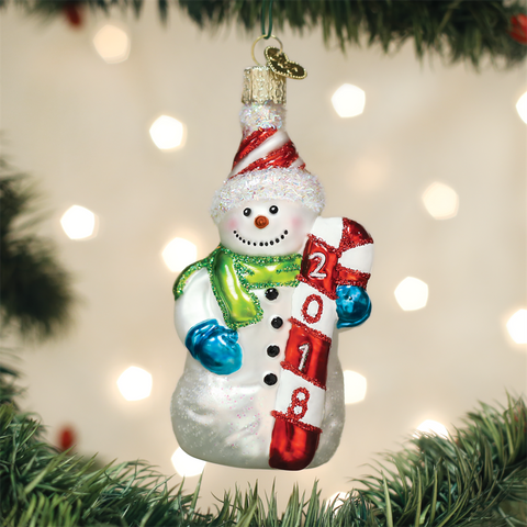 Old World Glass SNOWMAN
