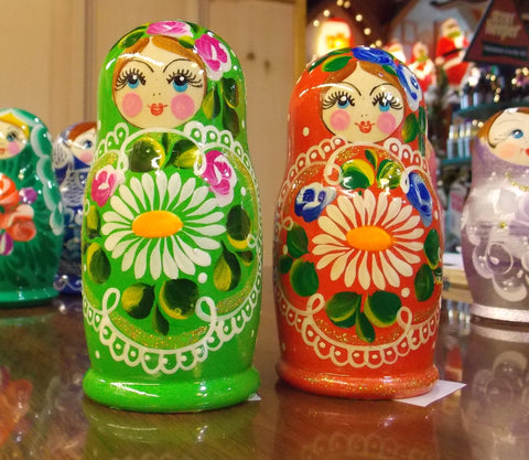 Matryoshka in Red, Green or Blue