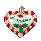 OWC Peppermint Heart Ornament, 30020