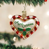 Old World Christmas Peppermint Heart Ornament, 30020