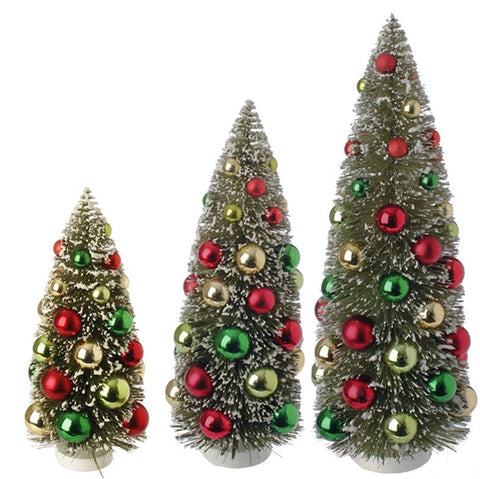 BOTTLE BRUSH TREE SET/3