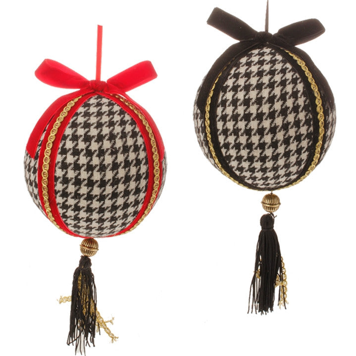 HOUNDSTOOTH BALL ORNAMENT