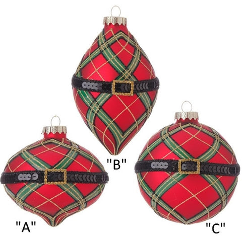 PLAID WITH BELT ORNAMENT