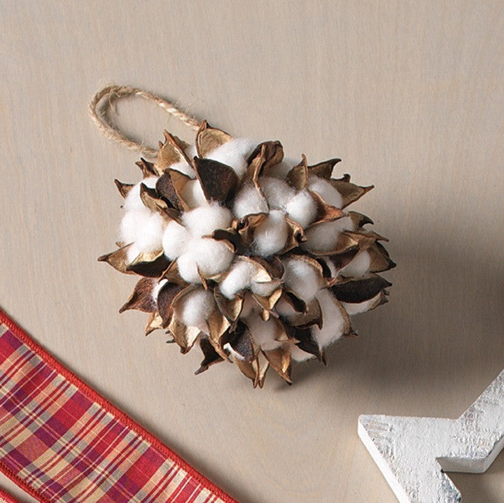 COTTON BALL ORNAMENT